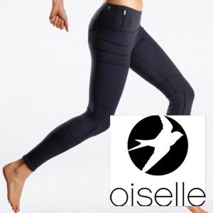 Oiselle Portman Black moto leggings, XS